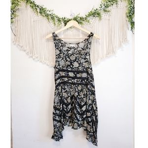 FREE PEOPLE Voile Trapeze Floral Lace Tunic Dress